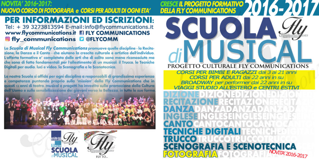 Riparte la Scuola di Musical Fly Communications