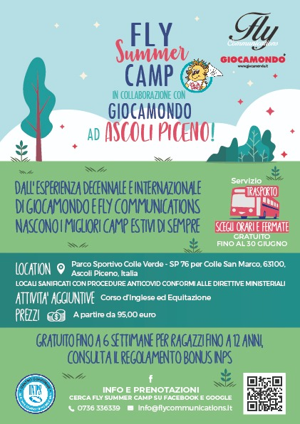 FLY SUMMER CAMP MUSICAL & SPORT IN COLLABORAZIONE CON GIOCAMONDO!